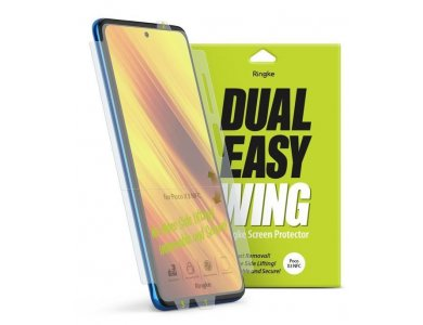 Ringke Poco X3 NFC Screen Protector, Dual Easy Wing, Set of 2