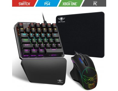 Spirit Of Gamer Xpert G700 RGB Wired Keyboard & Mouse & Mouse Pad Combo (PS3 / PS4 / Xbox / Nintendo Switch)