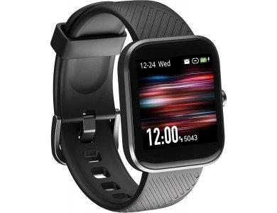 "Virmee VT3 Smartwatch 1.3"" LCD HD Screen, Real Time Health Monitoring, 18 Sports Modes, IP68 Waterproof, HR Blood Pressure, SpO2 & Sleep Tracking, Black"