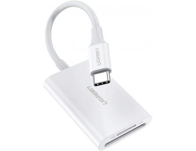 Ugreen Type-C 2-σε-1 Card Reader SD & Micro SD Ταυτόχρονης ανάγνωσης, Υποστήριξη SD 4.0 UHS-II Dual Slot - 60724