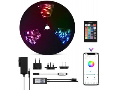 Sonoff L1 Smart RGB LED Tape 2m, 11 Colors (Static & Rainbow), Wi-FI, compatible with Alexa, Google, With Remote Control & PSU