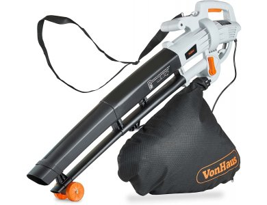 VonHaus 3 in 1 Leaf Blower / Aspirator 3000W with 35L Collection Bag & 10m. Cable - 2500105