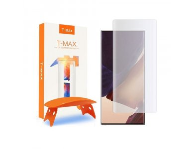 T-MAX Galaxy Note 20 Ultra UV Liquid Full Glue Tempered Glass & UV LED Lamp, 9H AntiCrash/AntiShock, Clear