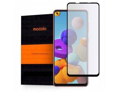 Mocolo Galaxy A21s Full Glue Curved Tempered Glass 9H, Αντιχαρακτικό Γυαλί