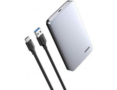 "Ugreen External Hard Drive Enclosure USB-C 3.1 to SATA Adapter (10Gbps), Case for 2.5 ""SATA External Hard Drives - 70498"