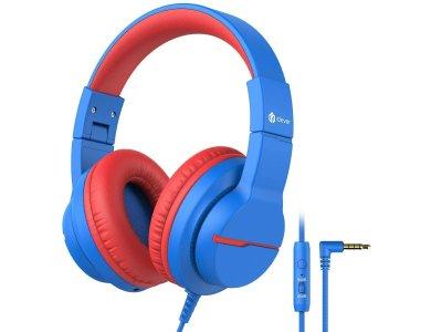 iClever Kids HD Stereo Headphones, Ενσύρματα ακουστικά για Παιδιά με Volume Limiter & Sharing Functio - HS19, Μπλε