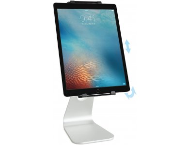 """Rain Design mStand Tablet Pro Stand / Tablet / iPad Adjustable for devices up to 12.9 """", Silver - 10062"""