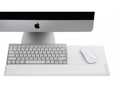 Rain Design mRest Wrist Rest & Mouse Pad, Wrist Support with Gel - 10011, White
