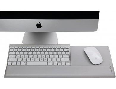 Rain Design mRest Wrist Rest & Mouse Pad, Στήριξη Καρπού με Gel - 10013, Silver