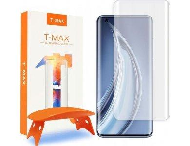 T-MAX Xiaomi Mi 10 / Mi 10 Pro UV Liquid Full Glue Tempered Glass & UV LED Lamp, 9H AntiCrash / AntiShock, Clear (With Lamp)