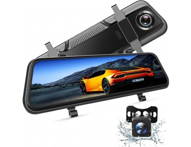 VanTop H609 Dash Camera 1080p, 10 '' IPS Touch Screen, Dual Lens, G-Sensor, Super Night Vision, Parking monitoring