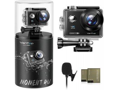 """Vantop Moment 4U 4K / 30FPS Action Camera, 20MP, WiFi, Waterproof 30Μ, 2 """"IPS LCD, 170 ° Field of View"""