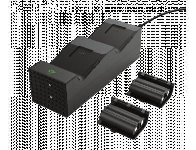 Trust GXT 250 Duo Charging Dock, διπλή βάση φόρτισης controller Xbox Series X / S, Σετ με 2 Μπαταρίες & Φορτιστή Πρίζας - 24177
