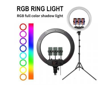 """Nordic RGB LED Ring Light 18"""" - 45cm Dimmable & Adjustable Color Temperature & Tripod έως 210cm Ύψος - RING-107"""