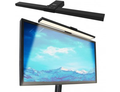 ABKO LED Monitor Lamp Hanging, Λάμπα Οθόνης με 3 Color Modes & Ρύθμιση Φωτεινότητας, Μαύρη