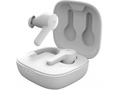 ABKO EC10 Bluetooth Ακουστικά TWS με Active noise cancellation & Ασύρματη Φόρτιση, White