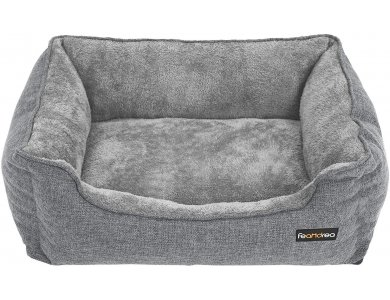 FEANDREA Large Washable Dog Bed, Dog Bed with Removable Cover - PGW11GG, Gray