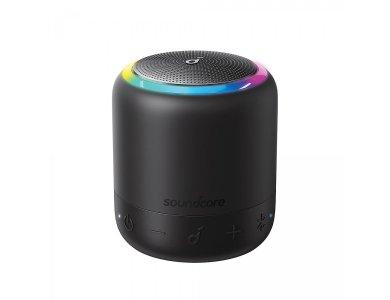 Anker Soundcore Mini 3 Pro, Portable Bluetooth Speaker 6W RGB with APP - A3127G11, Black