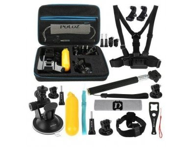Puluz 20 in 1 Accessories Ultimate Combo Kit for Action Camera (GoPro, DJI Osmo, Apeman, Xiaomi etc.) - PKT11