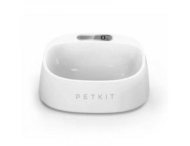 PetKit FRESH Small Digital Scale Pet Bowl, Μπολ Κατοικιδίου Σκύλου & Γάτας με Ψηφιακή Ζυγαριά, Χωρητικότητα 450ml / 2kg, Λευκή