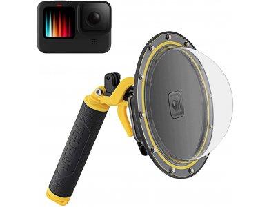 TELESIN GoPro Hero 9 Diving Dome με Αδιάβροχη Θήκη + Floating Bobber Handle + Trigger - GP-DMP-T09