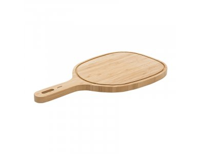 Pebbly Handle board Cutting surface with Bamboo handle and groove 47.5x25.5cm