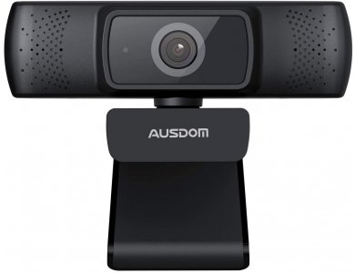 Ausdom AF640 Full HD Webcam USB 1080p @ 30fps Dual Noise-Cancelling Microphone with Autofocus & Privacy Cover