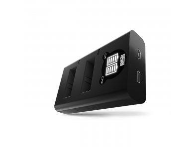 Newell DL-USB-C Φορτιστής μπαταριών AABAT-001 για GoPro Hero 5 / 6 / 7 / 8 / Max Action camera, Διπλός Με ένδειξη φόρτισης