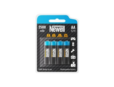 Newell AA 2500mAh 1.2V Rechargeable Batteries Ni-MH Ready To Use 4 Pcs