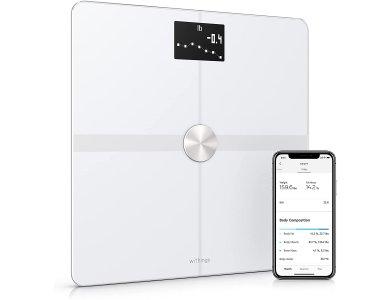 Withings Body+, Έξυπνη ζυγαριά, Λιπομετρητής, Δείκτης Μάζας Σώματος με Fitness APP μέσω Bluetooth & WiFi, Λευκή - WBS05-WHT