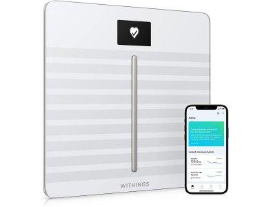 Withings Body Cardio, Έξυπνη ζυγαριά, Λιπομετρητής,Δείκτης Μάζας Σώματος με Fitness APP μέσω Bluetooth & WiFi, Λευκή - WBS04-WHT