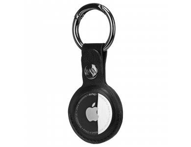 Case-Mate AirTag Loop, Holder / Θήκη για Apple AirTags, από Vegan Leather, Black