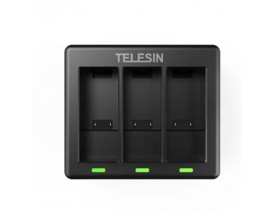 Telesin Φορτιστής μπαταριών GoPro Hero 9 Τριπλός - GP-BCG-902