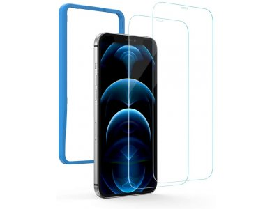 Ugreen iPhone 12/12 Pro Tempered Glass Tough Screen Protector with Installation frame (Case Friendly), Set of 2