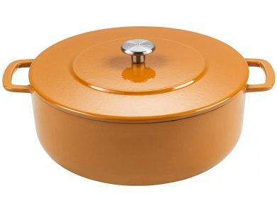 Combekk Sous-Chef Dutch Oven 24cm - 4L, Κατσαρόλα από 100% Ανακυκλωμένο Υλικό, Orange