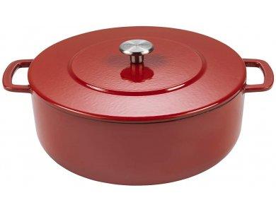 Combekk Sous-Chef Dutch Oven 24cm - 4L, Κατσαρόλα από 100% Ανακυκλωμένο Υλικό, Red