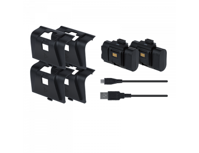 PDP Gaming Play & Charge Kit, Twin Pack Xbox S / Xbox X, Set with 2 Batteries, 4 Battery Lids and Cable