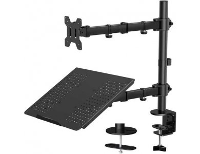 """Nordic Dual Arm Desk Mount with Clamp, Stand for Screen & Laptop 13 """"-27"""", up to 8kg - MM10"""