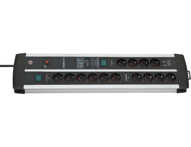 Brennenstuhl Premium-Protect 14-outlet Surge Protection Strip, 120.000Α USB-Charger & 3M cable