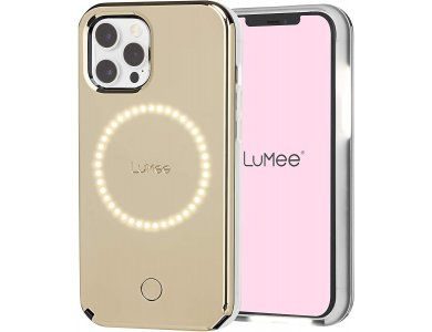 LuMee Halo by Case-Mate iPhone 12 / 12 Pro Holographic - Light Up Selfie Case με Εμπρόσθιο & Οπίσθιο Φωτισμό, Halo Gold