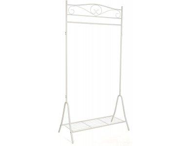 Songmics Clothes Hanger & Floor Coats, with Bottom Shelf 173 x 44.5 x 90cm - HSR01W, Cream