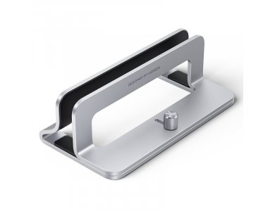 Ugreen Vertical Laptop Stand, Κάθετη Βάση Αλουμινίου, με Ρυθμιζόμενο Πάχος, για Laptop / Macbook / Macbook Air, Grey - 20471