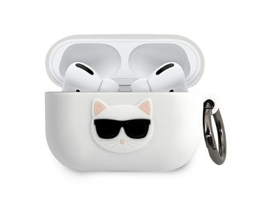 Karl Lagerfeld AirPods Pro Choupette Silicone Case, White