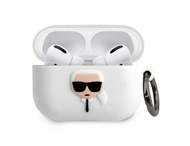 Karl Lagerfeld AirPods Pro Karl's Head Silicone Case, White