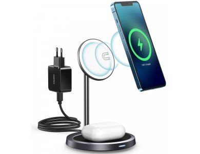 Choetech T575F MagSafe iPhone 2in1 Ασύρματος φορτιστής για iPhone + Airpods, Σετ με καλώδιο + 30W Φορτιστή Πρίζας PD