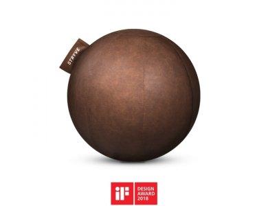 Stryve Active Ball 65cm, Μπάλα Γυμναστικής με Αντιολισθιτική Επιφάνεια Vegan Leather, Natural Brown