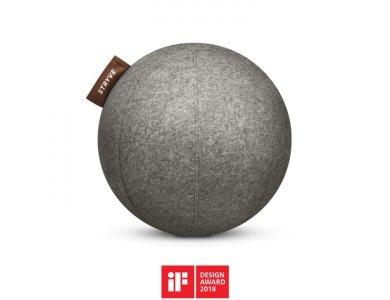 Stryve Active Ball 65cm, Μπάλα Γυμναστικής με Αντιολισθιτική Επιφάνεια Wool Felt, Warm Grey