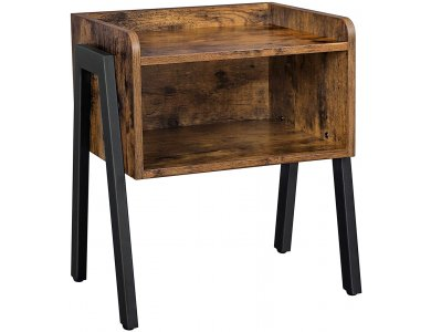 VASAGLE Side Table, Nightstand, Βοηθητικό Τραπεζάκι / Κομοδίνο με Καφέ Επιφάνεια σε Ρουστίκ Στυλ 42 x 35 x 52cm - LET54X