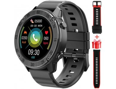 """Blackview X5 Smartwatch 1.3 """"IPS HD Screen, Real Time Health Monitoring, 9 Sports Modes, IP68, HR Blood Pressure, Black"""