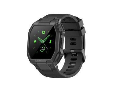 """Blackview R6 Rugged Smartwatch 1.3 """"TFT-LCD Screen, Real Time Health Monitor GPS, 8 Sports Modes IP68, Heart Rate Monitor, Black"""